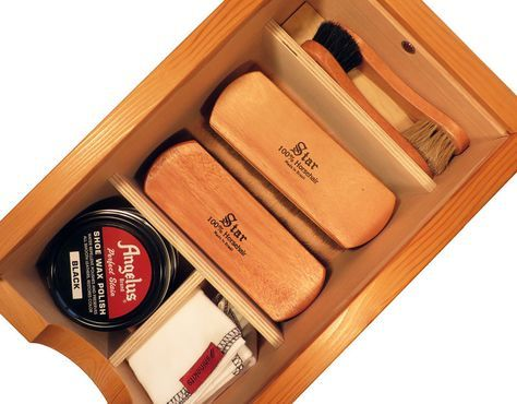 The Ultimate Shoe Shine Kit – shinekits.com #shoes #shoeshine #giftsformen #men #style