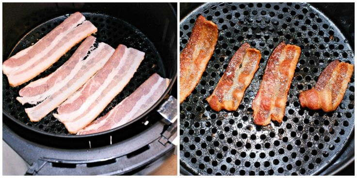 Avalon Bay AirFryer makes bacon with no mess, no grease all over and less calories!