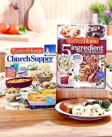 Whether you're looking for a simple or large-yield recipe, you'll find it in the pages of a Taste of Home Cookbook. The 2015 edition of Church Supper Recipes of