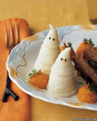 """See the """"Mashed Boo-tatoes"""" in our Scream-Worthy Savories gallery to go with the """"rat"""" meatloafs"""