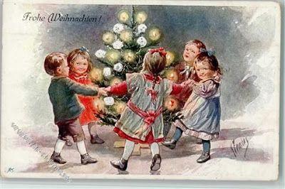 Зимние забавы и радости на картинах Karl Feiertag - .