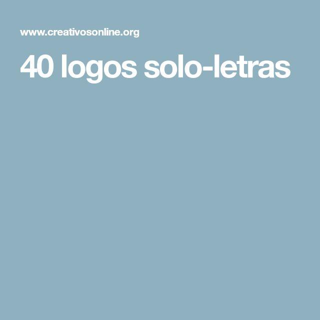 40 logos solo-letras