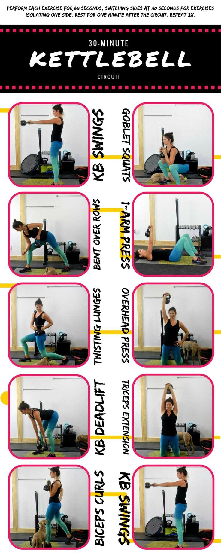 30 Minute full-body kettlebell circuit workout
