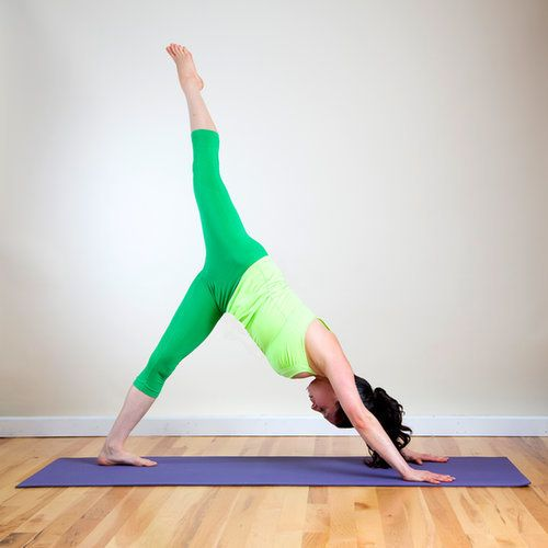Yoga poses to strengthen and lengthen runners' legs. Love the prompts