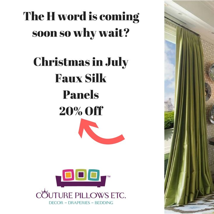 Christmas in July!    Drapery Panels fitted to your exact measurements.   FREE consult. Couture Pillows - Surprise AZ Draperies & window treatments