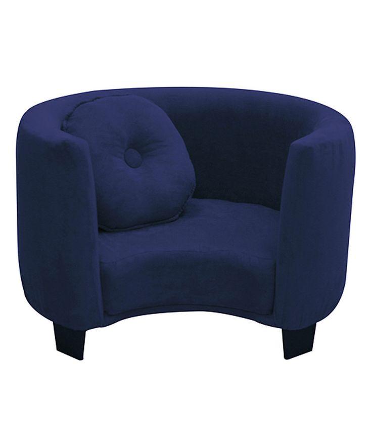 Look at this #zulilyfind! Navy Blue Comfy Kids' Armchair by Komfy Kings, Inc. #zulilyfinds