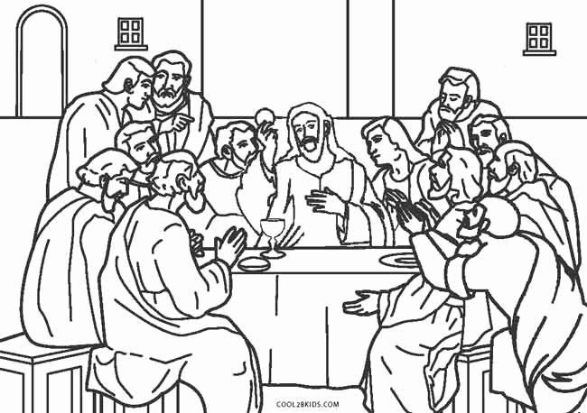 The Last Supper Coloring Page Fresh Free Printable Jesus Coloring
