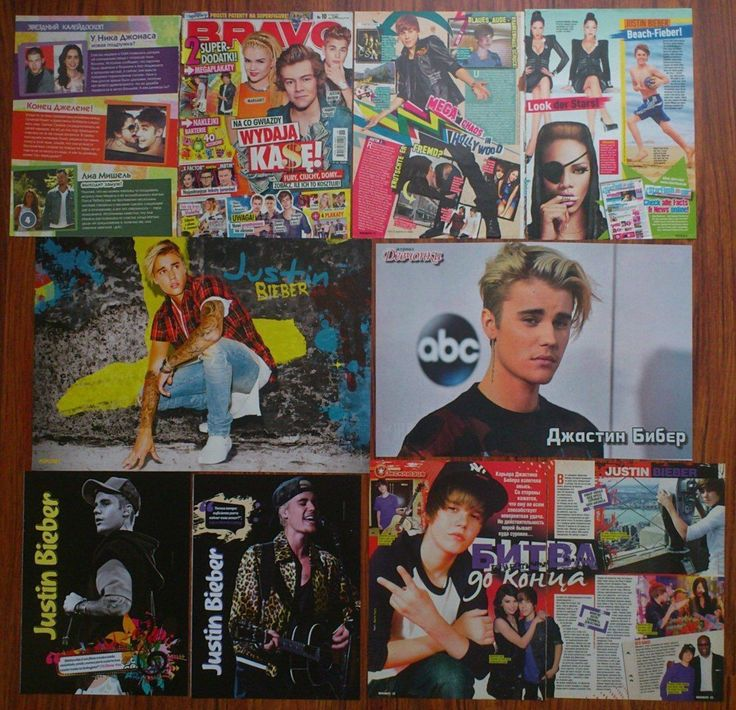 JUSTIN BIEBER Posters Articles Clippings | eBay