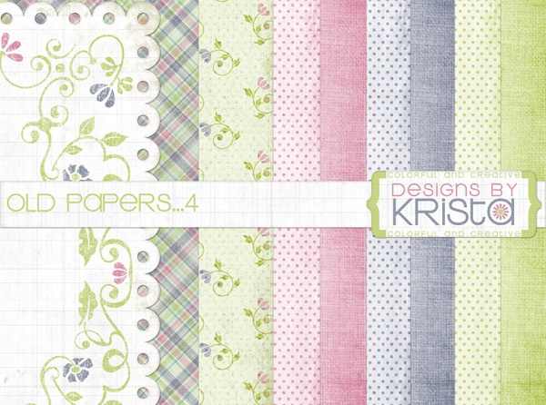 FREE:'Simply Sweet' papers  (A blog with MANY cute freebies...)