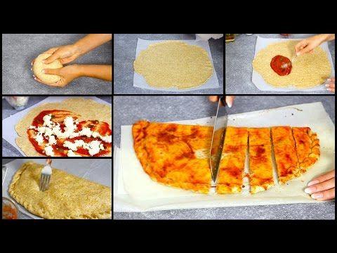 CALZONE al FORNO RIPIENO con POMODORO MOZZARELLA +RICETTA pasta brisè per RICETTE SALATE SENZA BURRO - YouTube