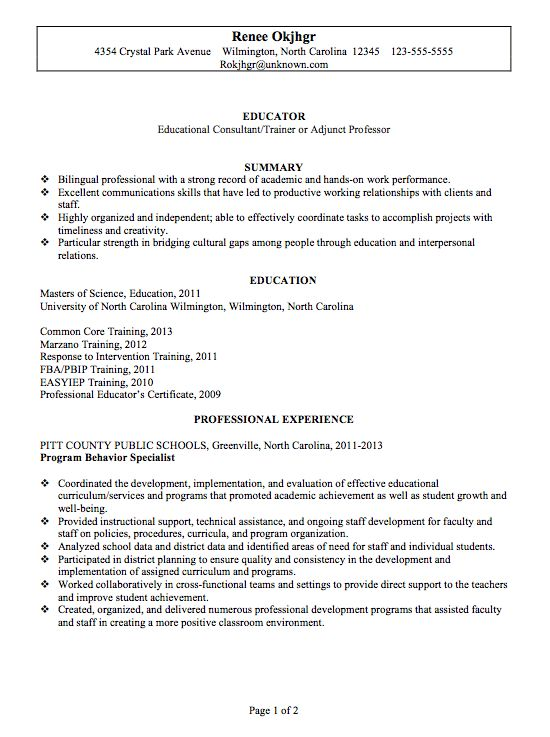 39 best Jobs images on Pinterest Resume ideas, Resume tips and - library specialist sample resume