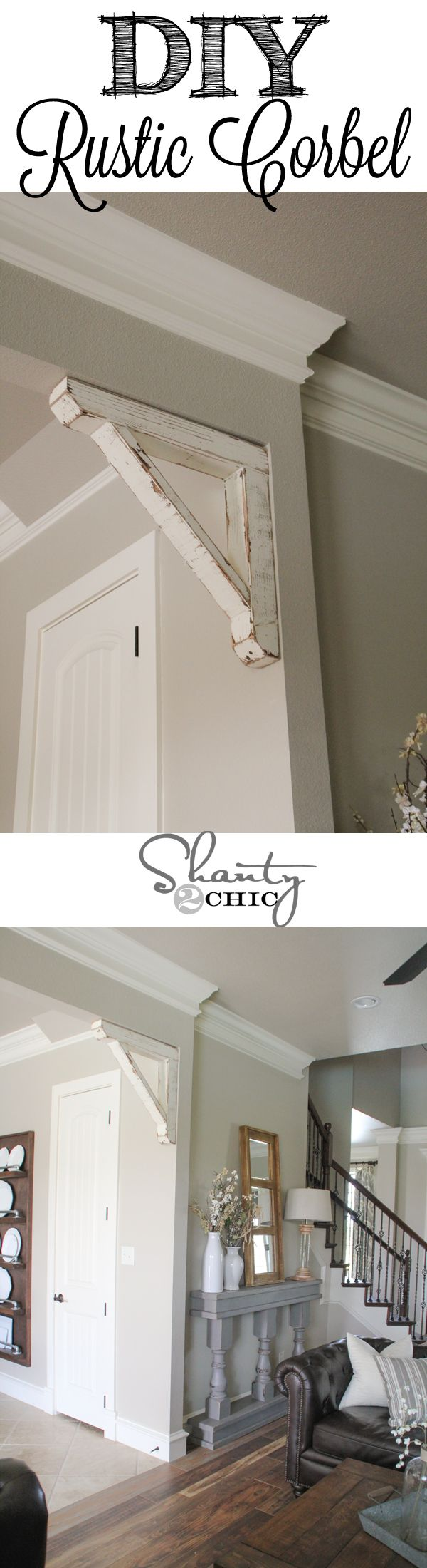 Free and Easy DIY Furniture Project Plan: Learn How to Build Rustic Corbel Accent for Your Home // Shanty-2-Chic.com