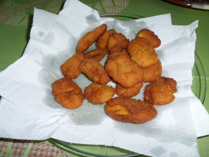 Receita de Nuggets de milho verde.