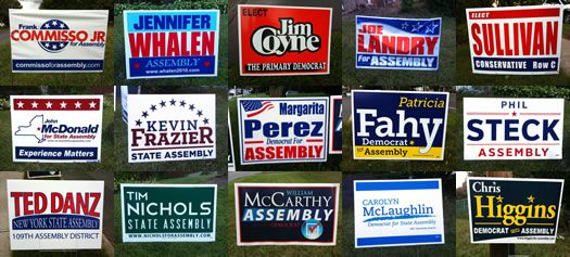 For election season: a political yard sign design primary