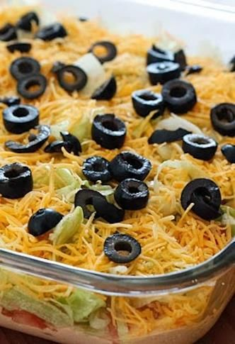 This taco dip from Skinny Taste is a great holiday dish!