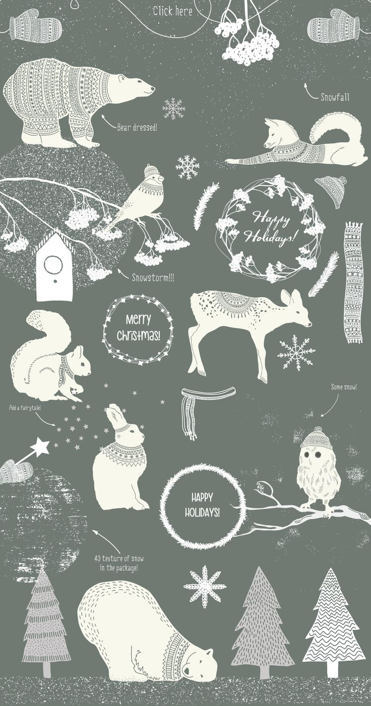 Winter collection by Julia Dreams on Creative Market