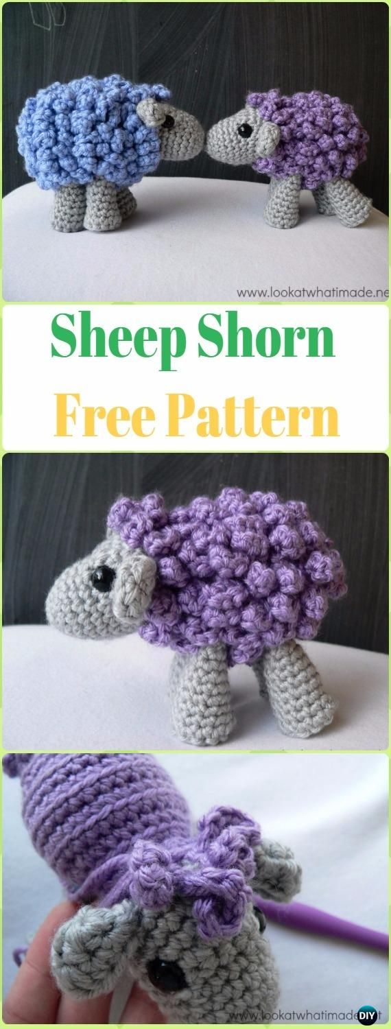 Amigurumi Shorn the Sheep Free Pattern - Crochet Sheep Free Patterns