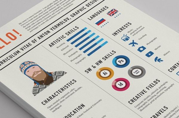 Graphic CV  Get Your Dream Job With These Creative Ideas To Make Your CV Awesome • BoredBug