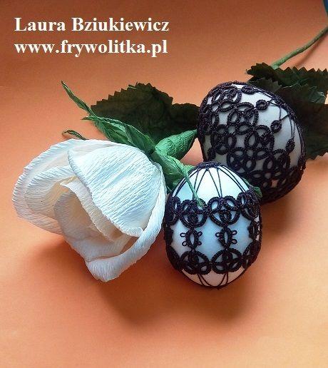 The Easter eggs in tatting dress