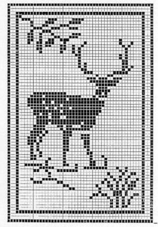 Reindeer Knitting Pattern Chart : Top 25 ideas about deer on Pinterest Reindeer, Filet crochet charts and Deer