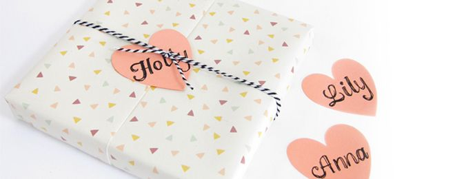 Shiny & Bright gift wrapping ideas using Alex Mae heart tags