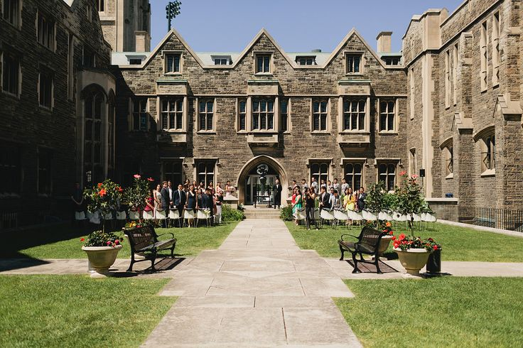 Their Ceremony - The Quad at Hart House http://www.fusion-events.ca/
