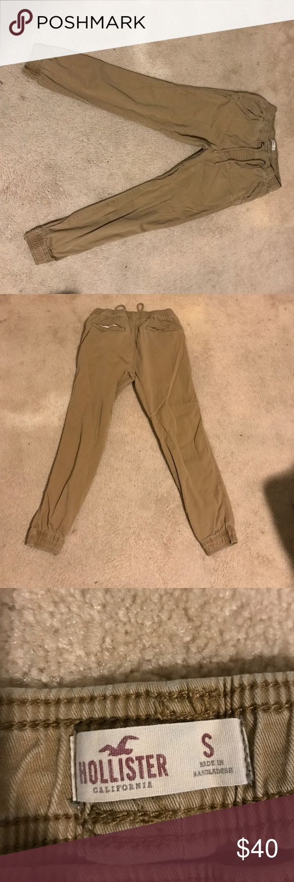Hollister Joggers Almost new joggers, only worn 3 times, slight distressed looked, great condition, loose fitting, comfortable elastic. Negotiable. Hollister Pants Sweatpants & Joggers