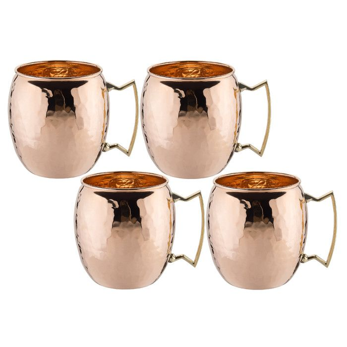 Features:  -Designed to serve Moscow Mules.  -Sleeve Included: No.  -Saucer Included: No.  -Utensil Included: No.  -Solid copper construction with solid cast brass handle.  -Unlaquered finish will age