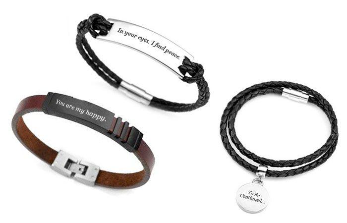 Bracelet Engraving Ideas For Boyfriend In 2020 Mens Engraved Bracelets Custom Engraved Bracelet Bracelets For Boyfriend