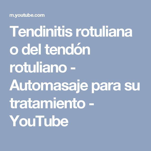 Tendinitis rotuliana o del tendón rotuliano - Automasaje para su tratamiento - YouTube