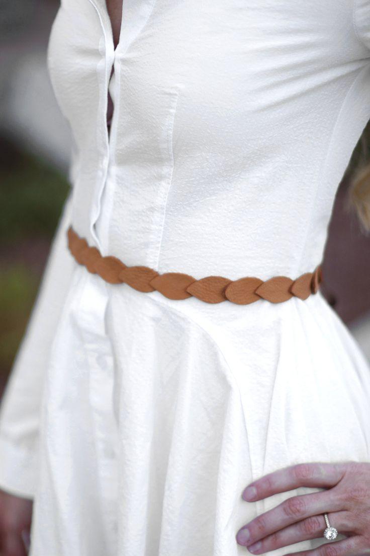 DIY Leather Petal Belt made with Cricut Explore -- Kristi Murphy. #DesignSpaceStar Round 2