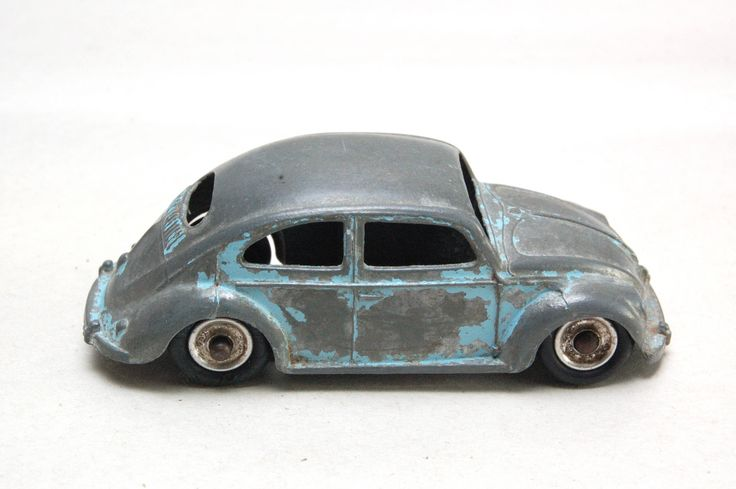 """Vintage Dinky Toys Meccano No. 181 Volkswagen Beetle, Bug, Saloon, 1950's, approx 3.5"""" L Made In England, Die Cast Toy Car Original by RememberWhenToys on Etsy"""
