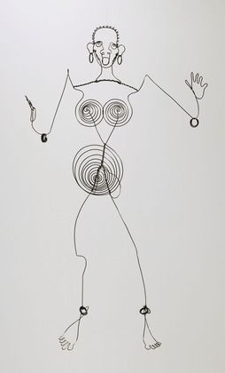 Alexander Calder Josephine Baker (III)  c. 1927. Steel wire sculpture, 39 x 22 3/8 x 9 3/4 inches Gift of the artist. © 2012 Calder Foundation, New York / Artists Rights Society (ARS), New York, Collection of The Museum of Modern Art, New York. S)