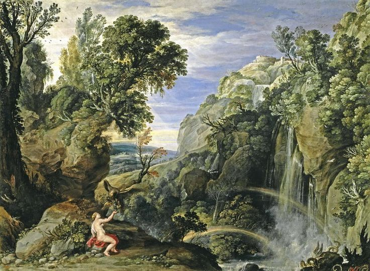 Фламандский художник Paul Bril (1554-1626).. Landscape with Psyche and Jupiter