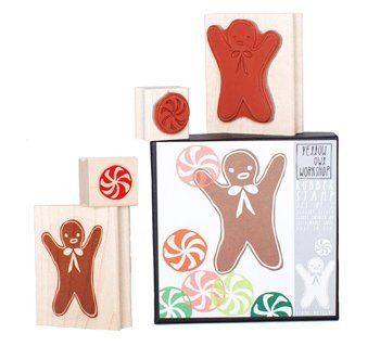 Christmas gingerbread stamp set for your own cards. Yellow Owl Workshop Gingerbread Stamp Set