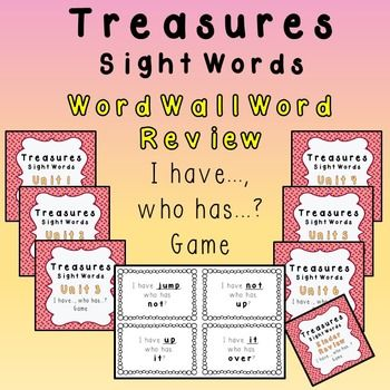 This game uses words from Texas Treasures 1st Grade Units 1-6 and Kindergarten Review sight word list. The printable word cards are ready for black and white printing.Pass out the word cards to the students (some students may receive more than one word depending on how many students you have).Students will read their card (ex.