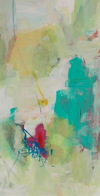 art painting abstract acrylic painting on wood panel by pamelam, $105.00
