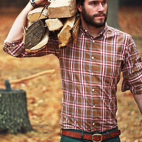 Mm a man with a beard and wears flannel shirts. My dream ...