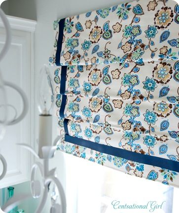 We always kept our roman shades open in the last house - so maybe some homemade faux ones will fit the bill.