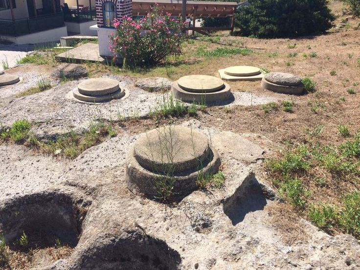Stone wine press in Lemnos island, used till 70's