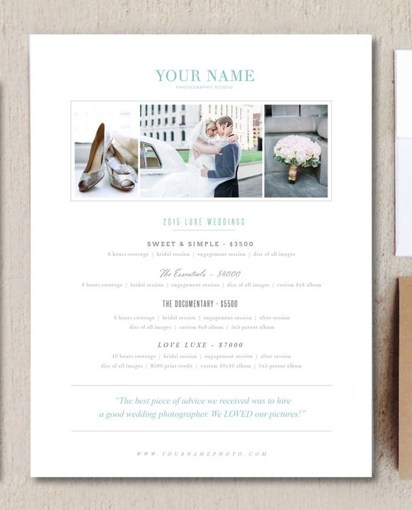Check Out Wedding Photographer Pricing Guide By Bittersweetdesignboutique On Creative Market