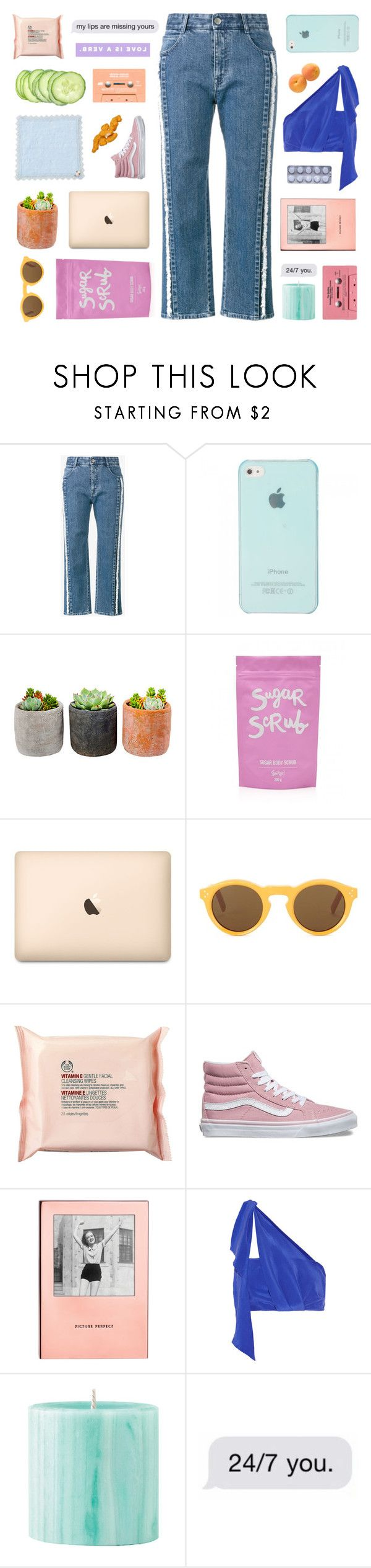 """""""that little mouse"""" by frostedfingertips ❤ liked on Polyvore featuring STELLA McCARTNEY, Shop Succulents, CÉLINE, The Body Shop, Vans, Kate Spade, Paper London and CASSETTE"""