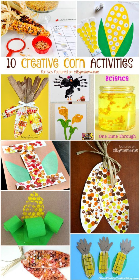 10 Creative Corn  Painting, Math Science, & Crafts: