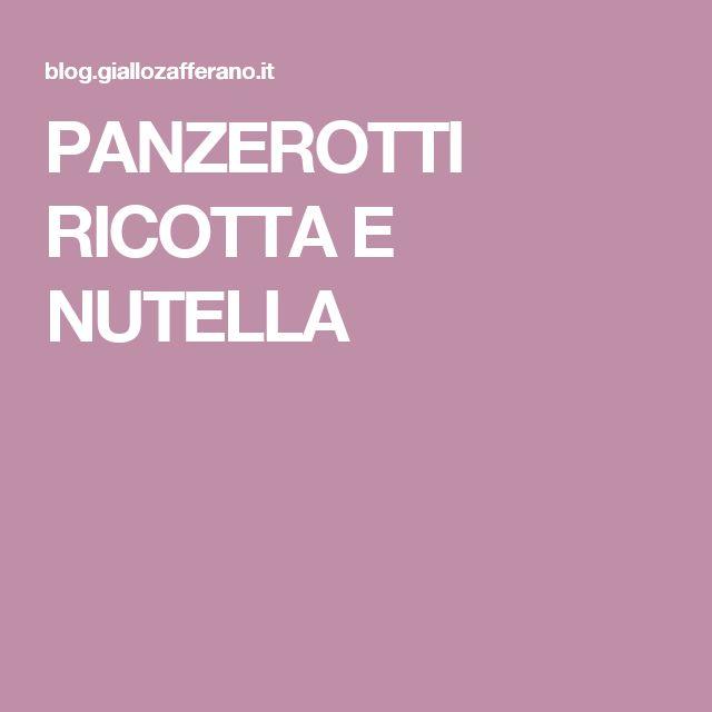 PANZEROTTI RICOTTA E NUTELLA