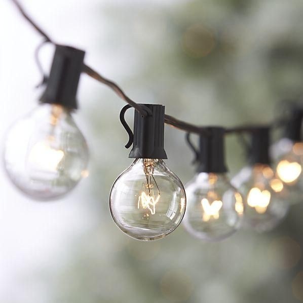 Hanging bulb lights make almost any occasion look more fantastic and whimsical. -D