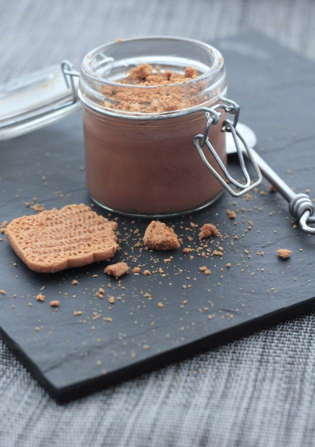 Crèmes légères au chocolat & spéculoos (d'après WW)