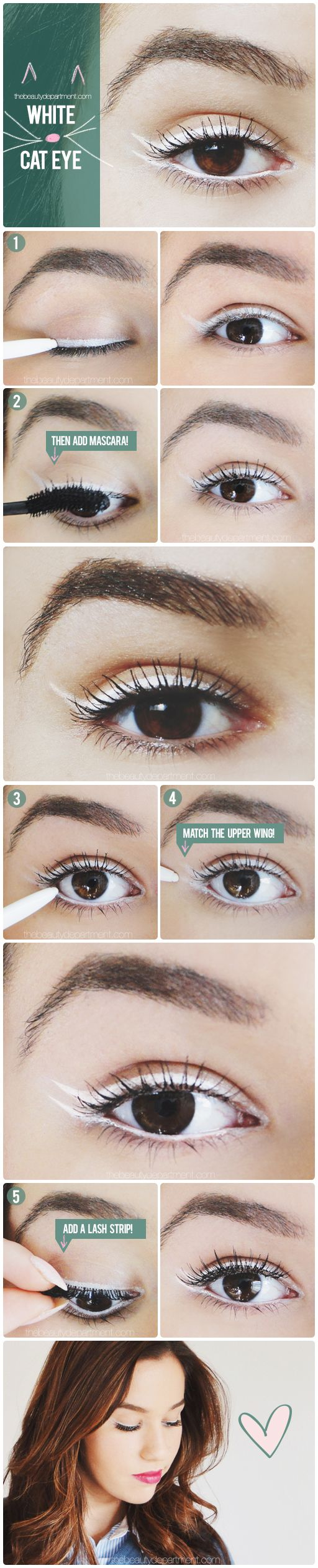 25+ best ideas about White eyeliner on Pinterest   Double eyeliner ...