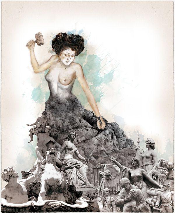 """Lola Mora. Retrato de la serie """"100x100 argentinos"""" http://100x100.catedrasalomone.com/?portfolio=lola-mora"""