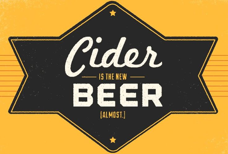 """Cider is the New Beer  I've enjoyed hard cider for years, and now it's """"in"""" :)"""