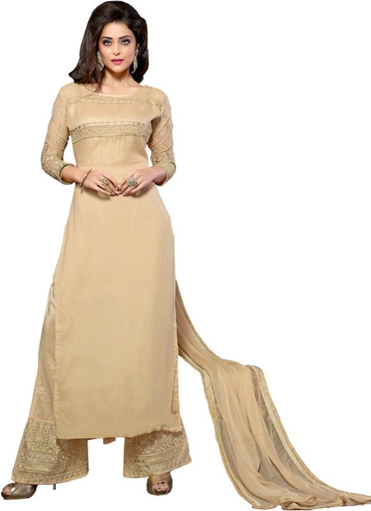 Khazanakart Georgette Embellished Semi-stitched Salwar Suit Dupatta Material Price in India - Buy Khazanakart Georgette Embellished Semi-stitched Salwar Suit Dupatta Material online at Flipkart.com
